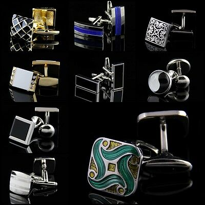 New Stainless Steel Golden Silver Vintage Jewelry Wedding Gift Men's Cuff Links