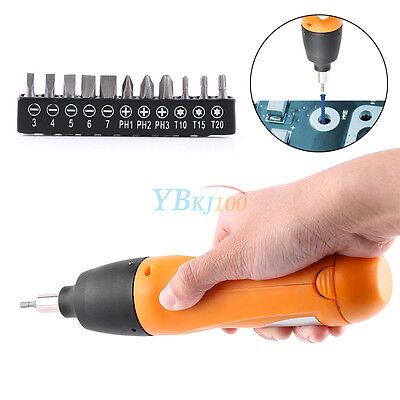 200r/m 6V Battery Powered Cordless Rotary Electric Screwdriver with 11 Bits coi