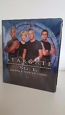 Stargate SG1 Season 8 official binder/album from Rittenhouse Archives
