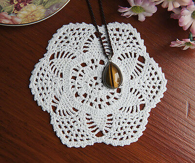 Cotton Lace Hand Crochet Doily Crocheted Doilies Placemat Round 14CM White FP02