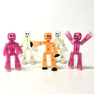 "Random 5pcs  Doll Zing Stikbot ROBOT ANIMATION Single 3"" Figure -Different Color"