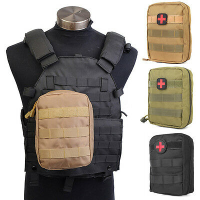 Waterproof Nylon Tactical Molle Bag Medical First Aid Utility Emergency Pouch
