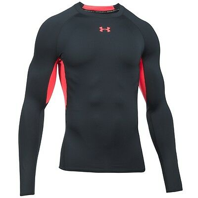 Under Armour Heatgear Compression Longsleeve Shirt anthracite red 1257471-016