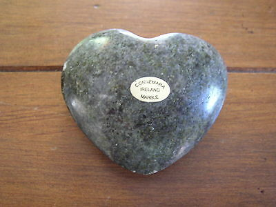 Connemara Marble by Gerard Heart Paperweight, large