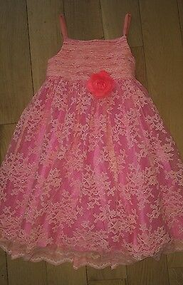 Monsoon Special Occasion Floral Lace Party Dress, Age 7-8 Years