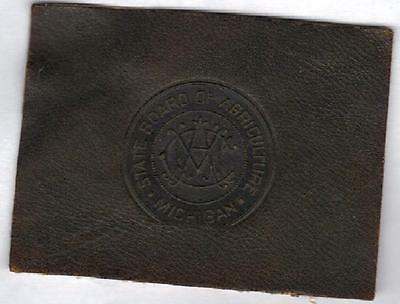1910 Tobacco Cigarette Leather Michigan State University Seal