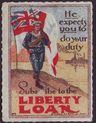 "World War I ""liberty Loan""  Cinderella Issue Unused (A8481)"