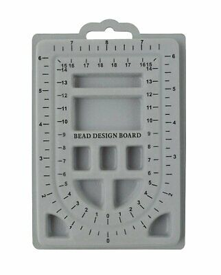 "6-1/2"" x 4-1/2"" Mini Flock Beading Board Jewelry Bracelet Making Bead Storage"