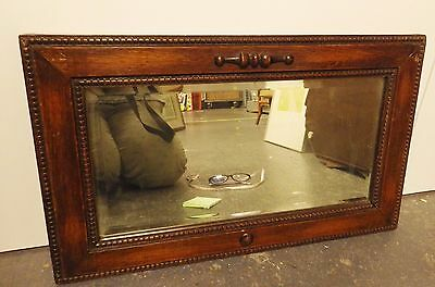 Vintage Antique Wooden Wall Mirror w/ Bevelled Edge