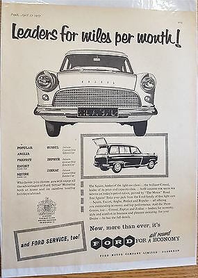 Ford Motor cars Advertising Print 1957