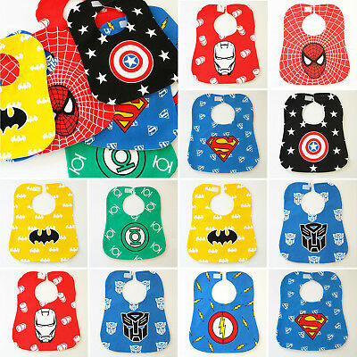 Waterproof Kids Infant Superhero Feeding Bandana Bibs Dribble Saliva Towel Apron