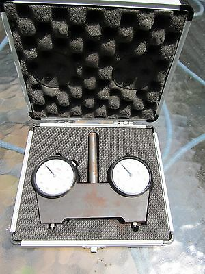 Two Indicator Spindle Square SPI Gage Gauges w/ case #24-313-9,  NR!