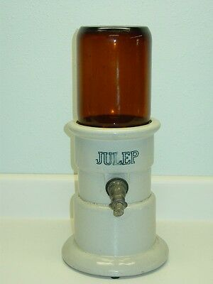 Antique Julep Syrup Stoneware Dispenser Perfection Cooler Co. Michigan City, IN