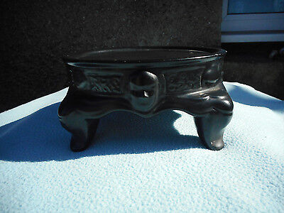 Chinese  Black Pottery Vase Stand