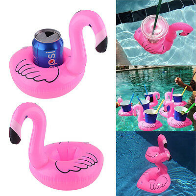2x Inflatable Flamingo Floating Drink Holder Hot Tubs Pool Beach Party Bath Toy