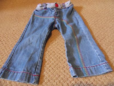 MOTHERCARE LITTLE BIRD RANGE GIRLS JEANS AGE 9 - 12 MONTHS HEIGHT UP TO 80cm