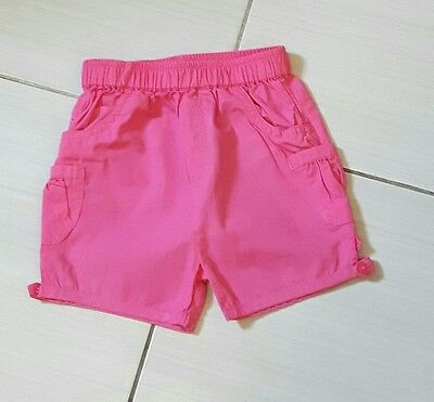 Baby Girls Pink Shorts Age 6-9 Months