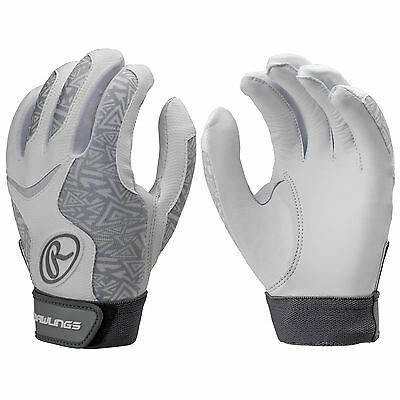 Rawlings Storm Women's Fastpitch Softball Batting Gloves - White - XS