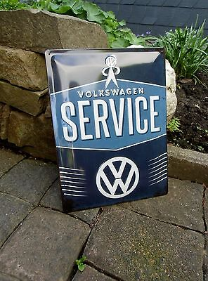 VOLKSWAGEN - SERVICE - VW MAN - Metal WALL SIGN Beetle Bus - Made in Germany