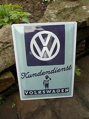 Classic VOLKSWAGEN Kundendienst SERVICE - VW MAN - WALL SIGN Beetle Bus GERMANY