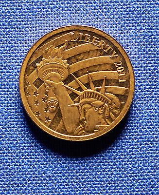 1/10th oz. 2011 $5 Proof .24 Pure Gold Statue of Liberty Coin