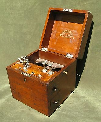 Antique Victorian Medical Device Quackery Electric Shock Box Otto Flemming Phila