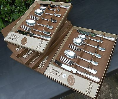 Butler Cutlery Bead Pattern Place Settings X6 Canteen Suite Silver Plated