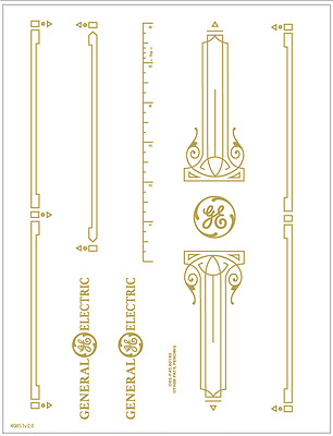 Standard GE Sewhandy Sewing Machine  Restoration Decals