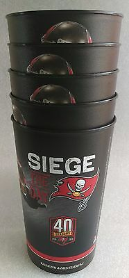5 TAMPA BAY BUCs COLLECTOR CUPS - Souvenir tailgate man cave bar club party NEW