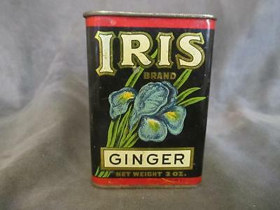 Vintage Haas Baruch & Co Iris Brand Ginger Spice Tin
