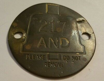 ~BELL SYSTEMS TELEPHONE Metal Check Tag/ Property Tag~ L@@K~ Antique~