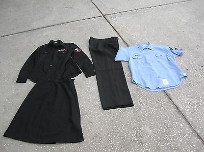 US Navy Women's Uniform shirt w ribbons skirt pants & Utility Work Shirt   named