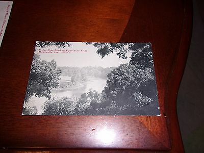Monticello, Indiana Postcard-Horse Shoe Bend on Tippecanoe River