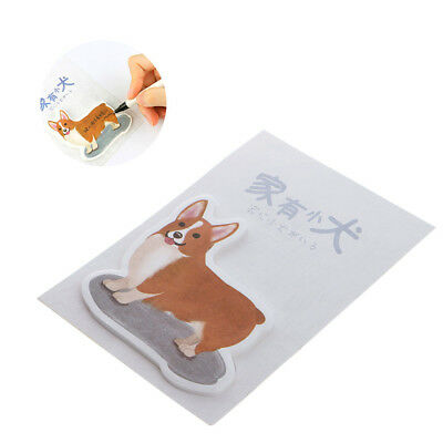 Cute Dog Shape Sticker Post-It Bookmark Marker Memo Flags Index Tab Sticky Notes