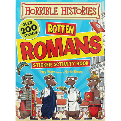 Horrible Histories - Rotten Romans Sticker Activity Book, Children's Books, New