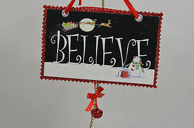 Believe Santa Paper Christmas Card Christmas Tree Ornament new