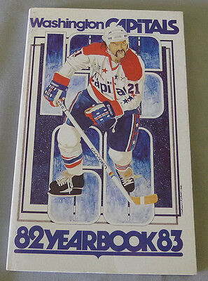 Original NHL Washington Capitals 1982-83 Official Hockey Media Guide