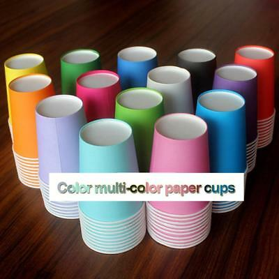 Disposable Paper Cups Plastic Supplies s New Solid Candy Color  20 pcs/lot WS
