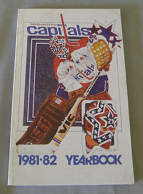 Original NHL Washington Capitals 1981-82 Official Hockey Media Guide
