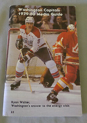 Original NHL Washington Capitals 1979-80 Official Hockey Media Guide