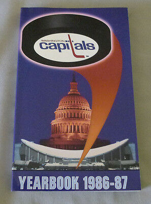 Original NHL Washington Capitals 1986-87 Official Hockey Media Guide