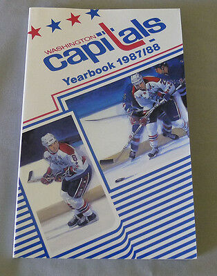 Original NHL Washington Capitals 1987-88 Official Hockey Media Guide
