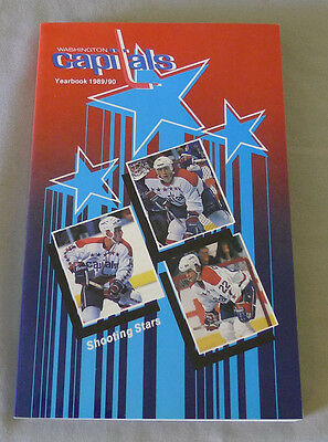 Original NHL Washington Capitals 1989-90 Official Hockey Media Guide