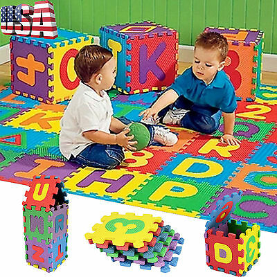 HOT 36Pcs Baby Child Number Alphabet Puzzle Foam Maths Educational Toy Gift USPS