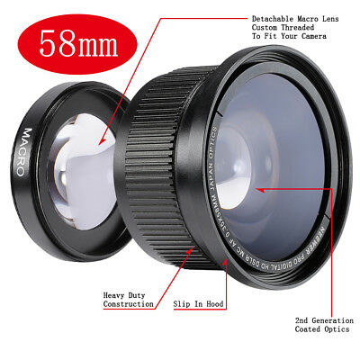 Neewer 58MM 0.35X Super Fisheye Wide Angle Lens for Canon EOS 1100D,1000D,700D