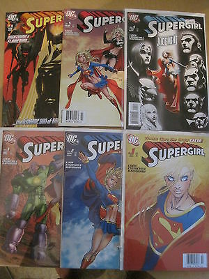 SUPERGIRL :COMPLETE RUN issues 1,2,3,4,5,6 of 2005 DC SERIES by Loeb & Churchill