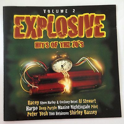 EXPLOSIVE HITS OF THE 70'S Volume 2 CD FREE POST 1970's