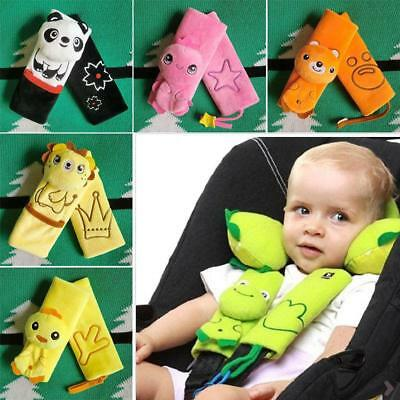 Cartoon Car Safety Seat Belt Strap Covers Baby Stroller Shoulder Cushion Pads LC