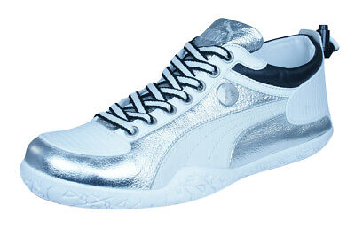 Puma Mihara Yasuhiro MY 44 Metallic Mens Leather Sneakers Fashion Shoes  Silver 5be937b81