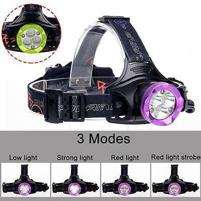 60000LM Cree T6 6X LED Headlight Flashlight Torch USB Rechargeable Headlamp#6